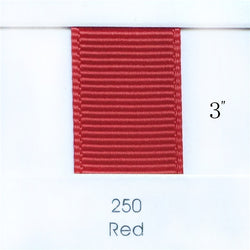 "3"" Solid Red Ribbon"