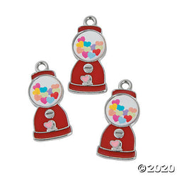 Enamel Heart Gumball Machine Charm