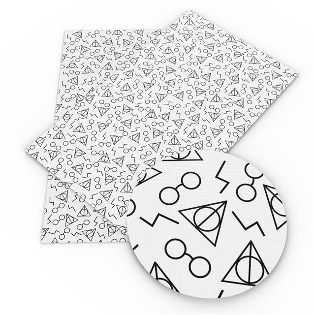 Color Your Own Deathly Hallows Faux Leather Sheet