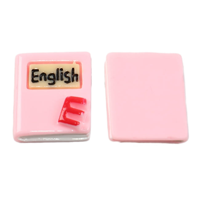 Pink English Book 3D Resin
