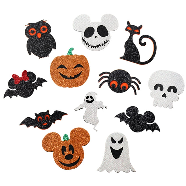 Halloween Glitter Felt Applique