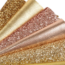 Gold Glitter Sheet Pack (6 sheets)