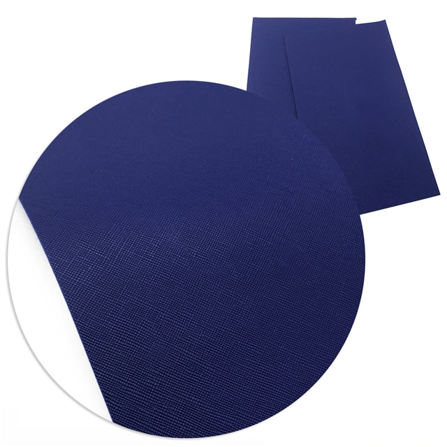 Solid Dark Blue Faux Leather Sheet