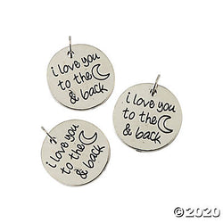 I Love You to the Moon Charm