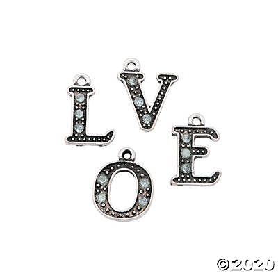 Love Rhinestone Charms