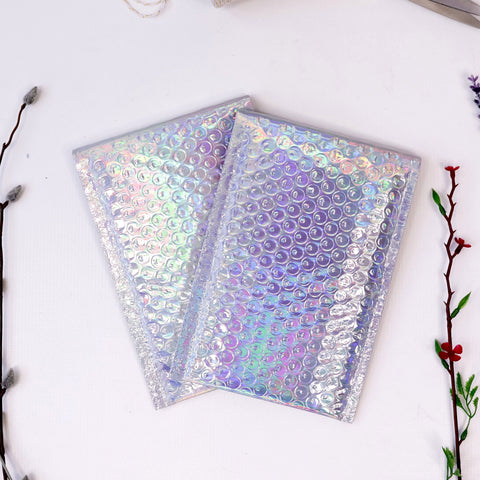 #000 Holographic Bubble Mailers