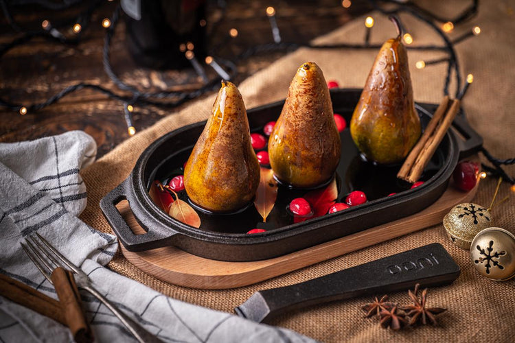 Baked Pears in Mulled Wine