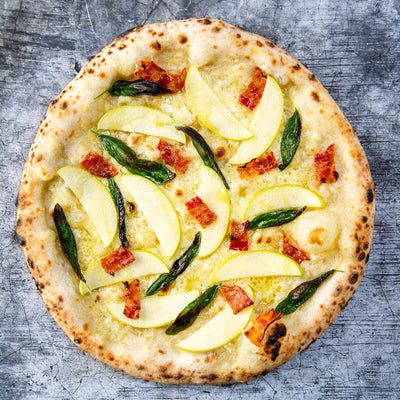 Apple, Bacon, Sage & Cheddar Pizza