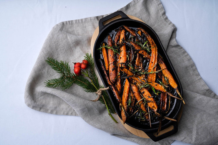 Maple Roasted Carrots with Rosemary