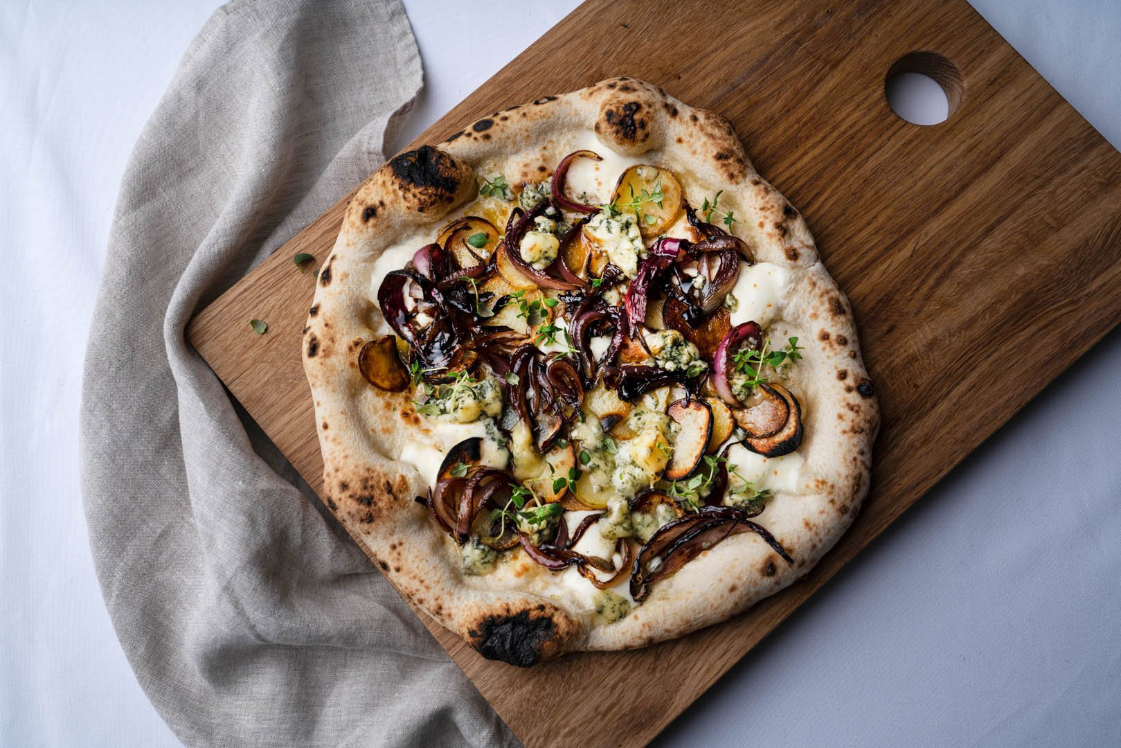 Potato, Blue Cheese & Balsamic Red Onion Pizza Featured Image