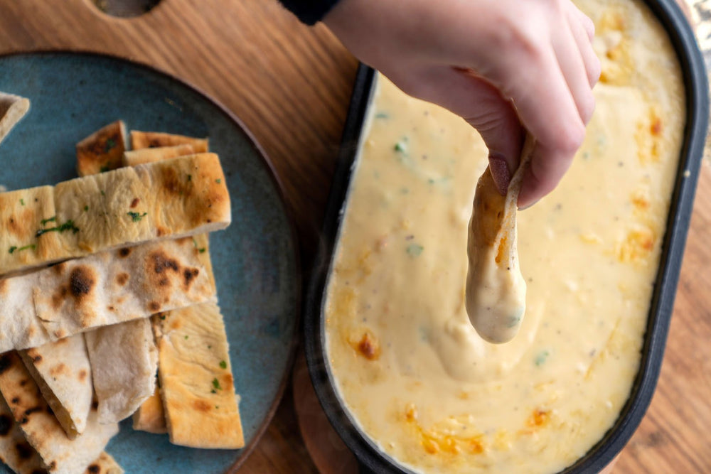 Baked Herby Cheese Fondue