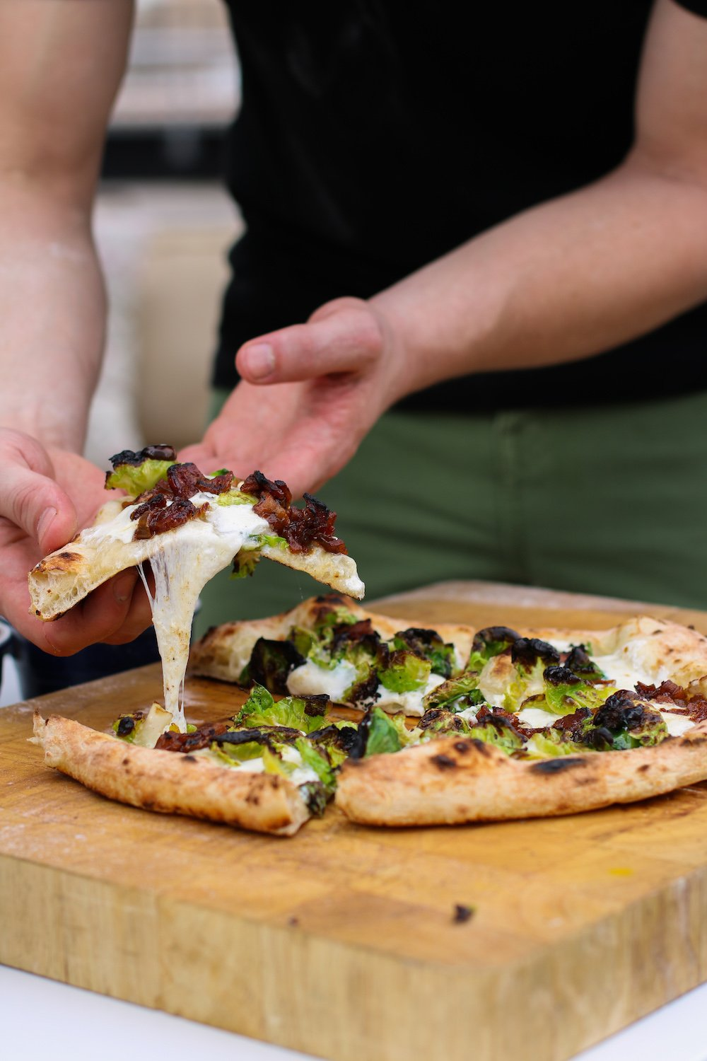Brussels Sprout & Apple-Bacon Jam Pizza Featured Image