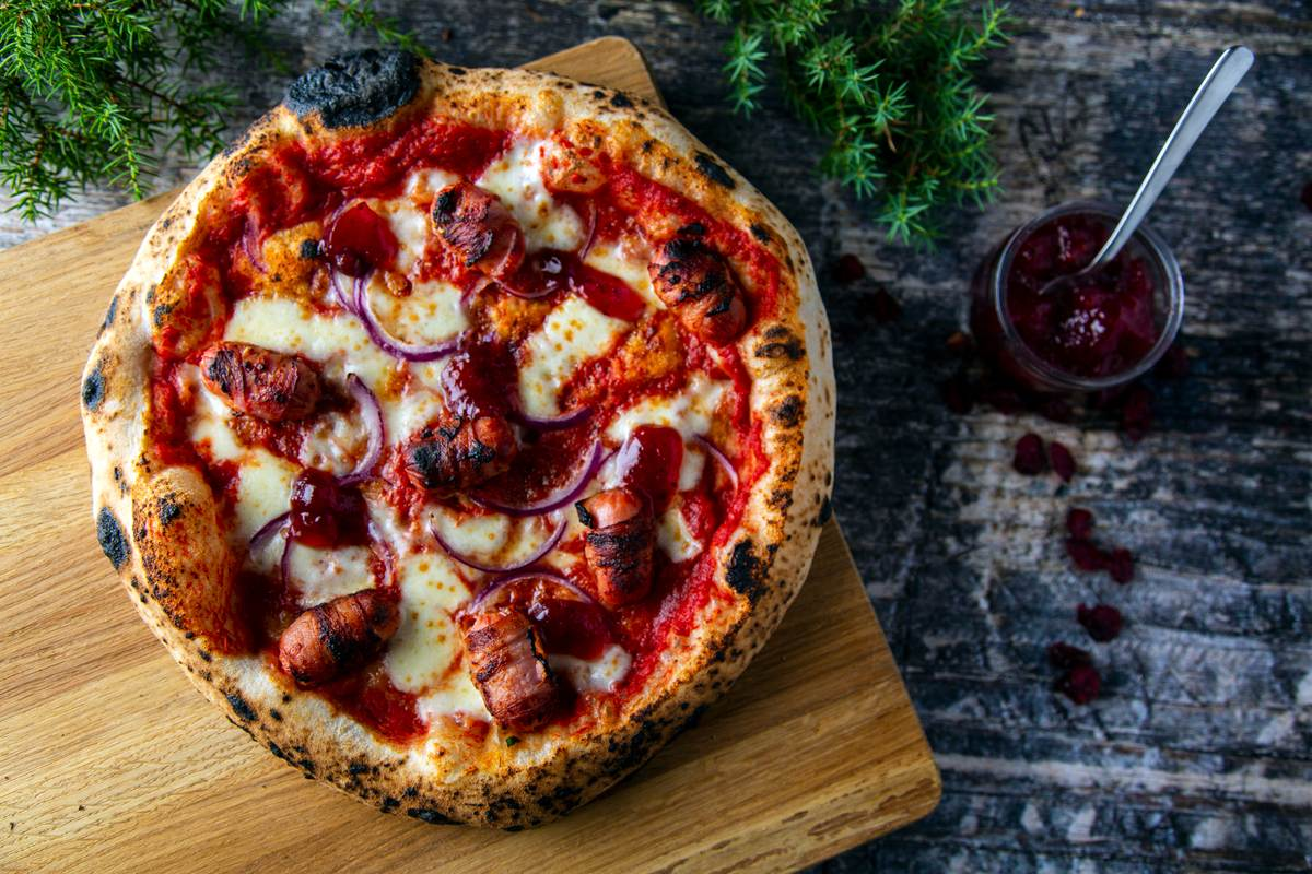 Pigs in Blankets Pizza Featured Image