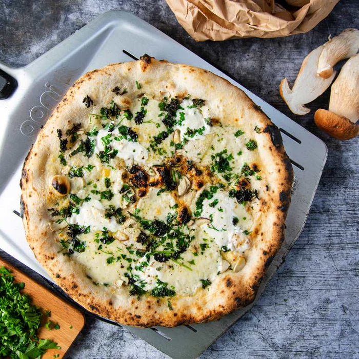 Porcini and Provolone Pizza