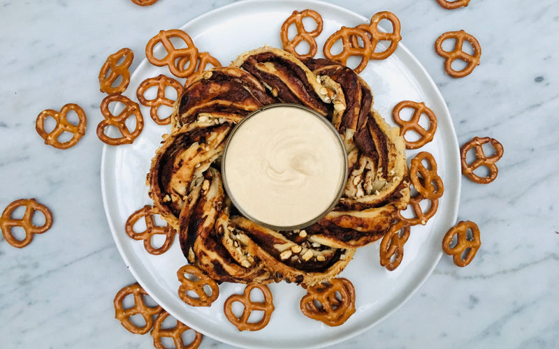 Braided Nutella & Crushed Pretzel Ring