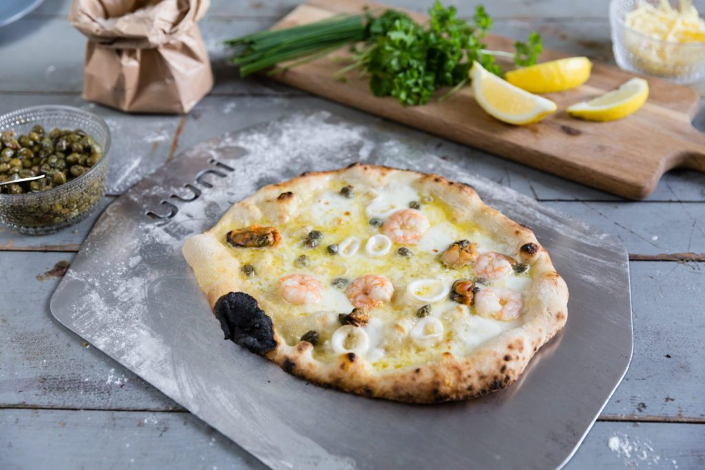 Seafood Pizza with Rosemary [Video Recipe] Featured Image