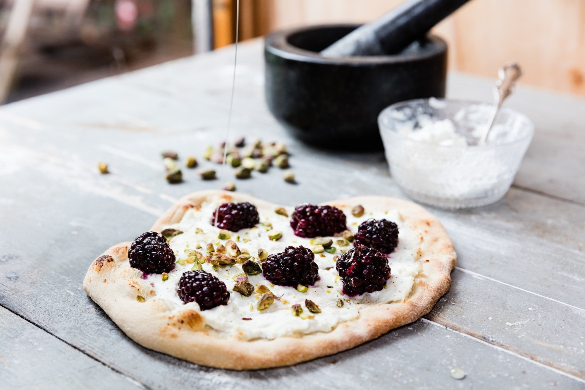 Blackberry, Ricotta & Pistachio Pizza Featured Image