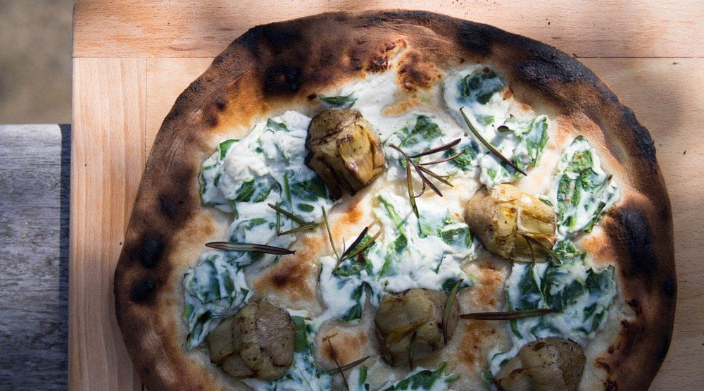 White Pizza (Artichoke, Spinach & Rosemary)