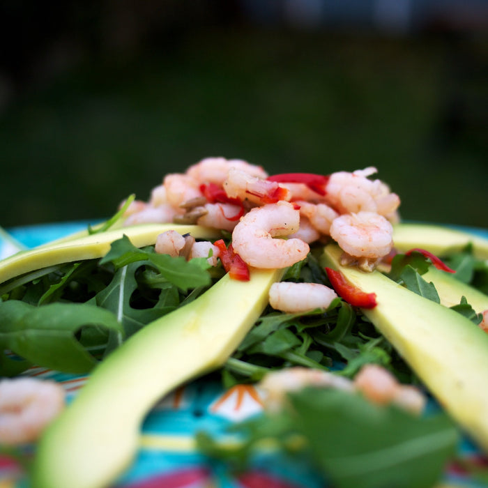 Prawn, Garlic, and Avocado Salad