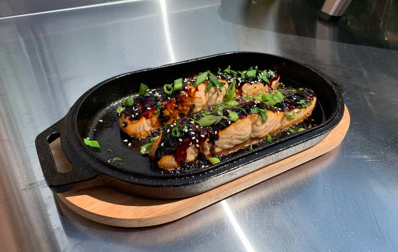 Cast Iron Honey Garlic Salmon