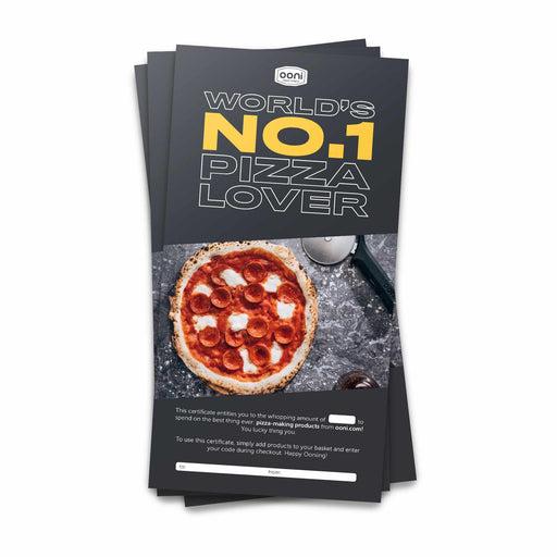 Ooni Pizza Ovens Gift Card Certificate