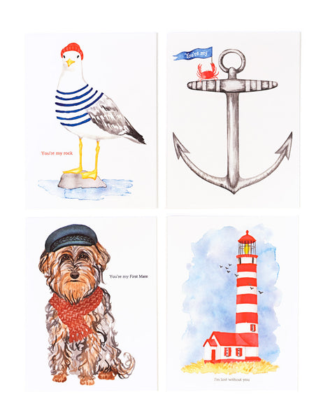 Assorted Nautical Card Set
