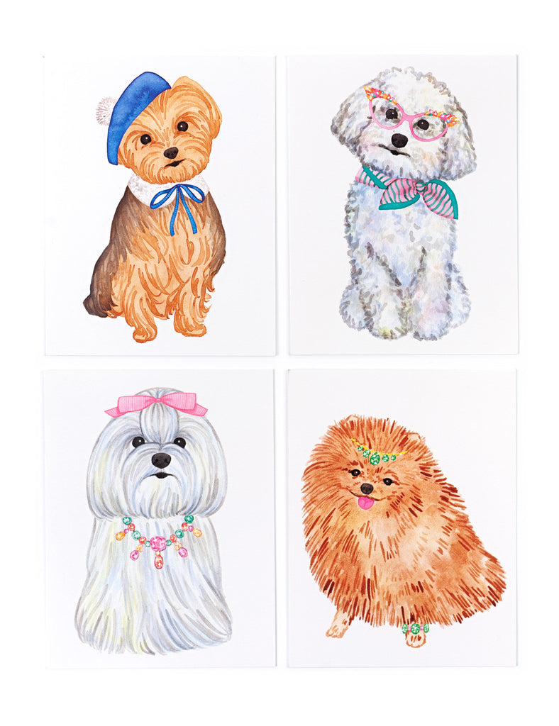 Assorted Lady Pups Card Set