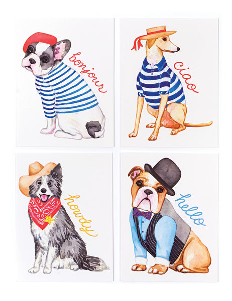 Assorted Hello Pups Card Set