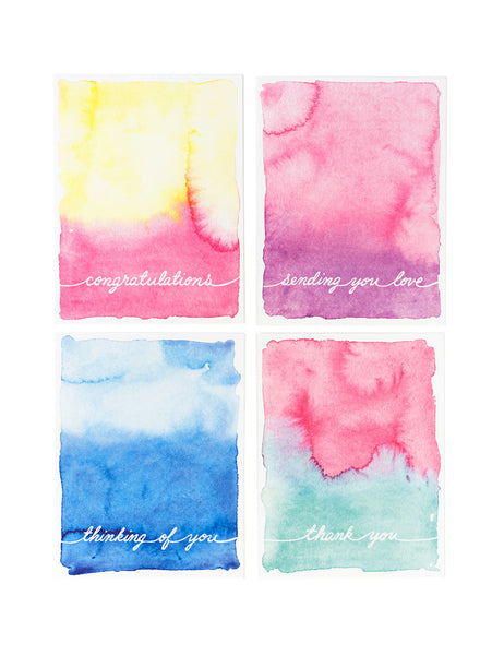 Assorted Watercolor Card Set
