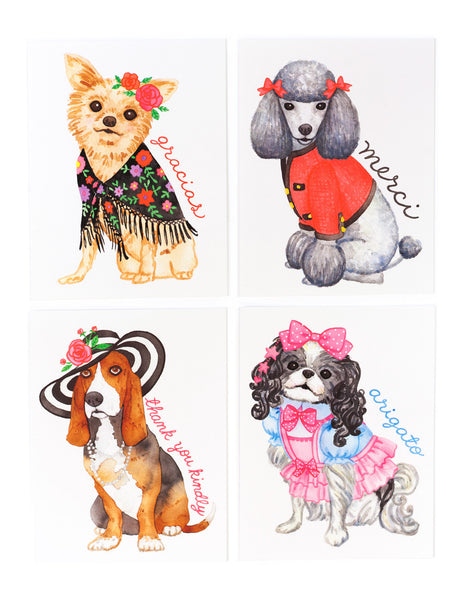 Assorted Thank You Pups Card Set