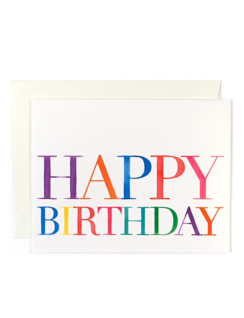 Birthday Colorful Card