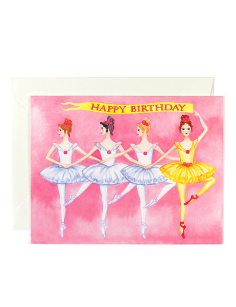Birthday Ballerinas Card