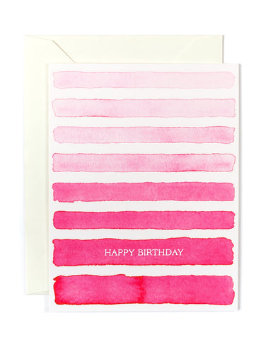 Pink Ombre Birthday Card