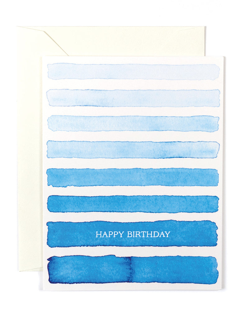 Blue Ombre Birthday Card