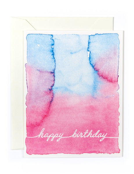 Watercolor Happy Birthday Card