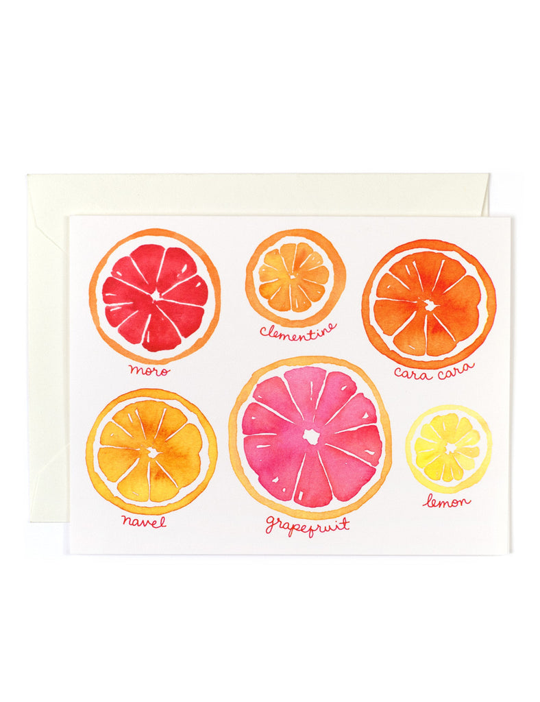 Citrus Fruit Card