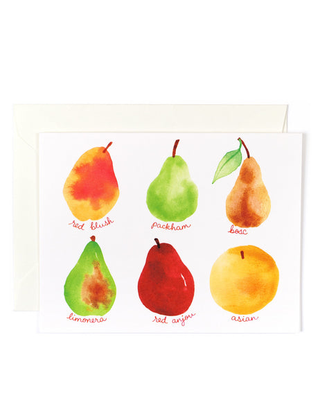Pear Fruit Card