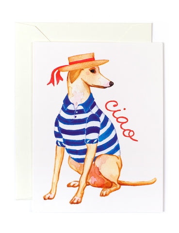 Ciao Italian Greyhound Card