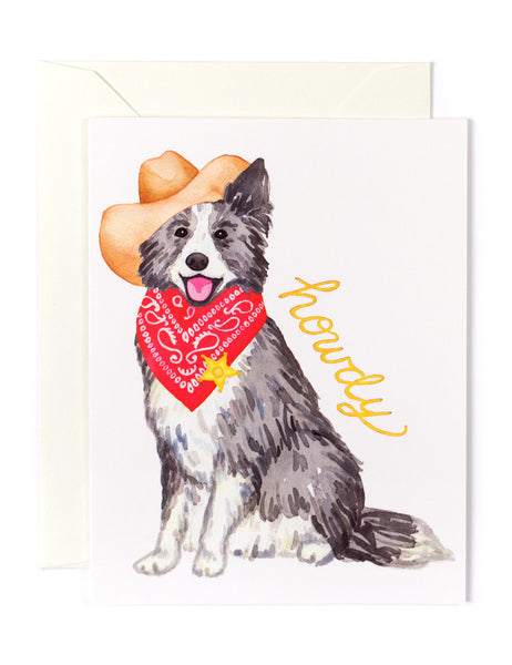 Howdy Border Collie Card