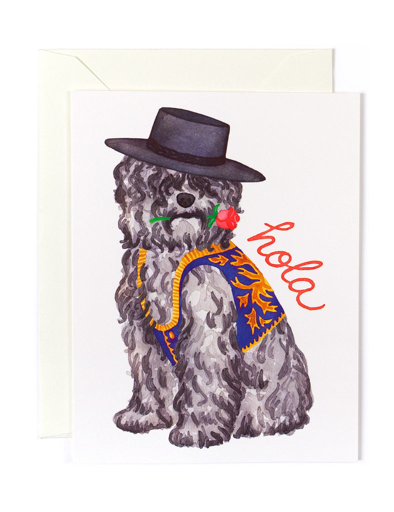 Hola Spanish Water Spaniel Card