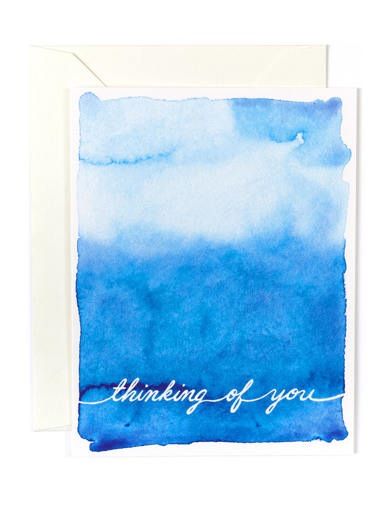Thinking of You Watercolor Card
