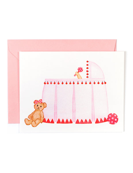 Baby Girl Bassinet Card