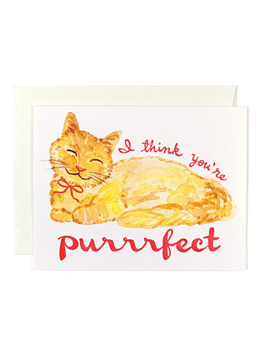 I Think You're Purrrfect Card