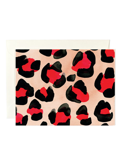 Red Leopard Card