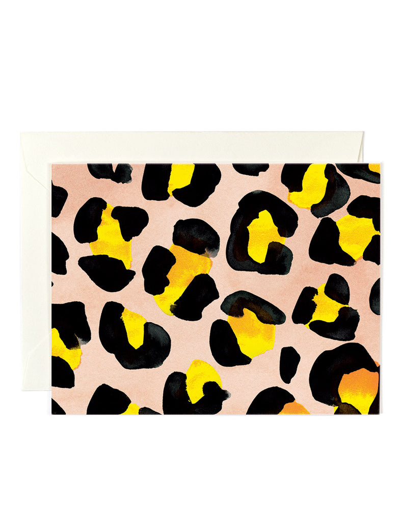 Yellow Leopard Card