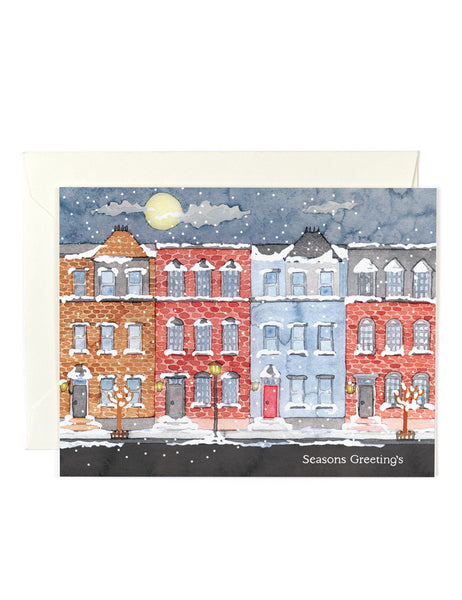 Season's Greetings Row Houses Card