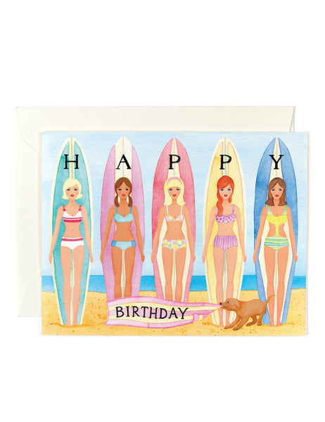 Hang 10 Birthday Card