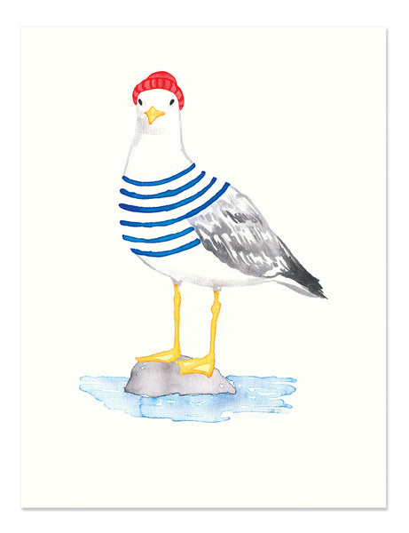 Seagull Art Print Golden Fox