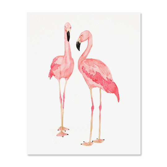 Flamingo Duo Art Print