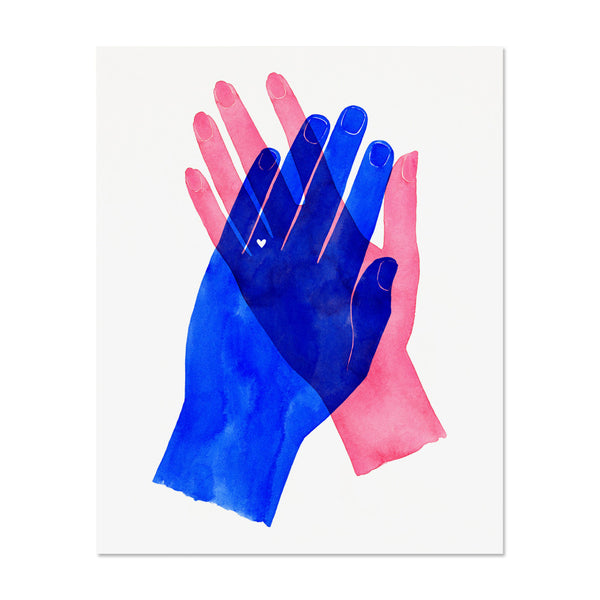 Mr. & Mrs. Hands Art Print